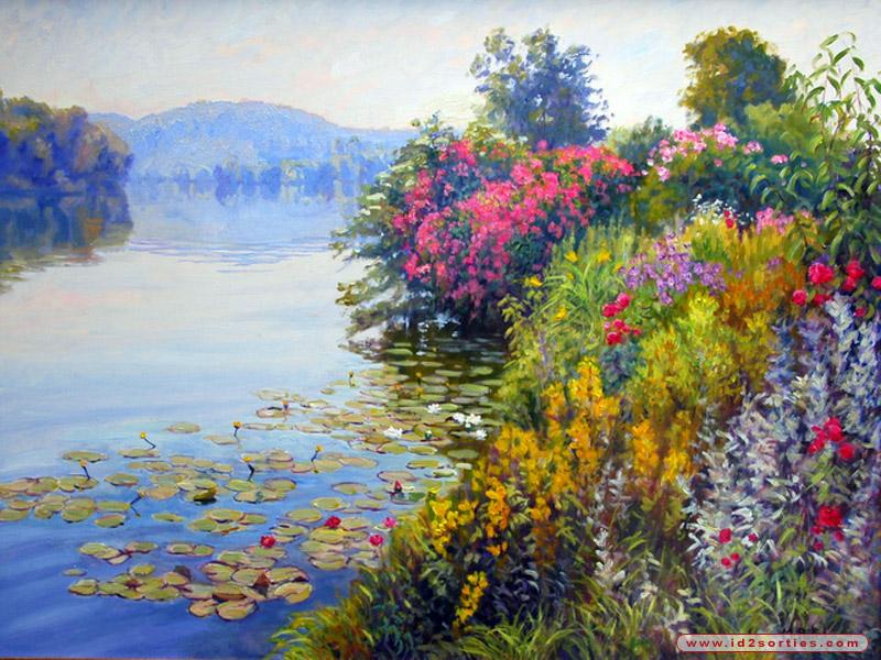 Paysage peinture photos et images for Paysage peinture